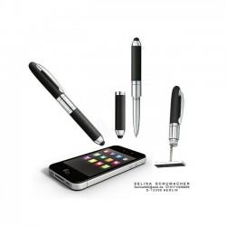 Penna Timbro Nero 3 Righe Preinchiostrato Heri 4321 - Personalizzabile 33x8,7 mm