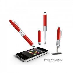 Penna Timbro Rossa 3 Righe Preinchiostrato Heri 4374 - Personalizzabile 33x8,7 mm