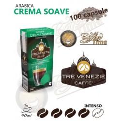 100 CAPSULE CAFFE' TRE VENEZIE NESPRESSO CREMA SOAVE MEDIA TOSTATURA