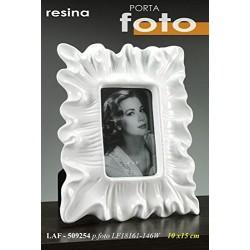 Porta foto bianco 10x15 in resina