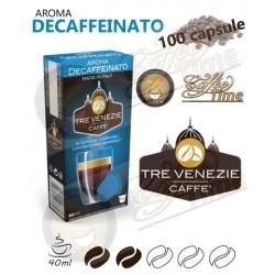 100 CAPSULE CAFFE' TRE VENEZIE NESPRESSO DECAFFEINATO CREMOSO