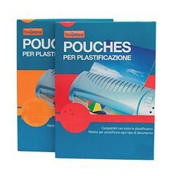 Pouches A7 Fogli per plastificare 80x110 125 Micron 100 Pezzi Nikoffice