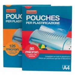 Pouches per plastificare 100 fg 80 micron A4 21,6x30,3 cm Peach