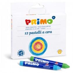 Scatola 12 Pastelli a Cera Maxi Primo Morocolor