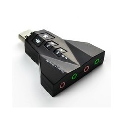 SCHEDA AUDIO ESTERNA  USB 2.0 7.1 4 INGRESSI