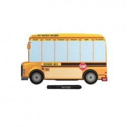 SOMETHING TO REMEMBER MAGNET BOARD - SCHOOL BUS SHAPE