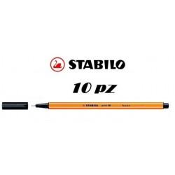 STABILO POINT 88 NERO 88/46 PACCO DA 10PZ