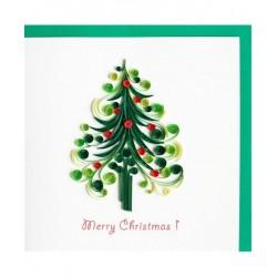 Biglietto D'Auguri Origamo ''Albero di Natale'' Quilling