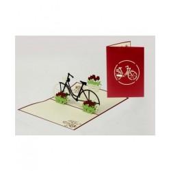 Biglietto D'Auguri Origamo ''Bicicletta''