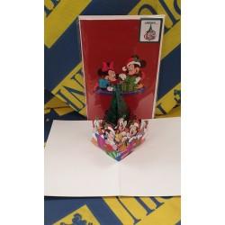 Biglietto D'Auguri Origamo ''Disney Xmas Family'' Disney