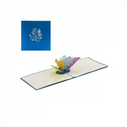 Biglietto D'Auguri Origamo ''Farfalla Colorata 2''