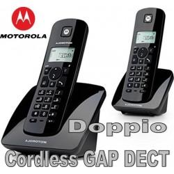 TELEFONO CORDLESS DOPPIO MOTOROLA C402E