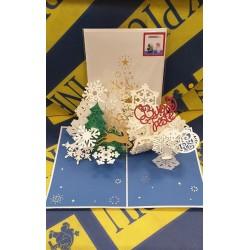 Biglietto D'Auguri Origamo ''Fiocchi di Neve''