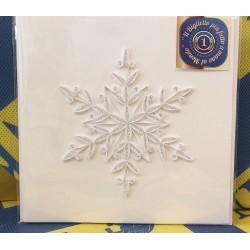 Biglietto D'Auguri Origamo ''Fiocco di Neve''' Quilling