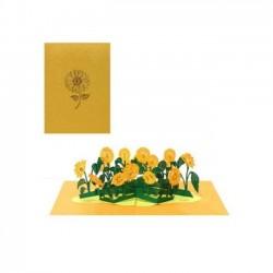 Biglietto D'Auguri Origamo ''Girasoli''
