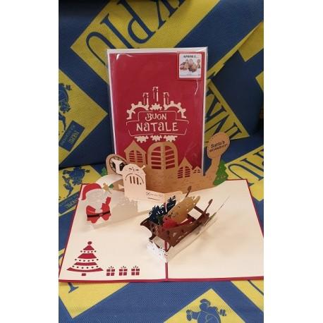 Biglietto D'Auguri Origamo ''Laboratorio di Babbo Natale''