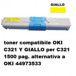 TONER OKI C321/301 YELLOW 44973533 1.5K RIGENERATO