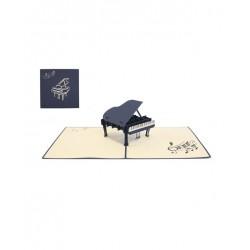 Biglietto D'Auguri Origamo ''Pianoforte''