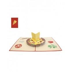 Biglietto D'Auguri Origamo ''Pizza''
