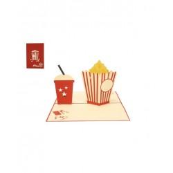 Biglietto D'Auguri Origamo ''Popcorn''