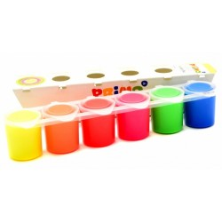 Vaschetta Tempere Primo 6 Colori Fluorescente Assortiti 6x25ml Made in Italy