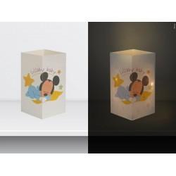 "W-LAMP BIGLIETTO D'AUGURI LAMPADA LED "" BABY MICKEY"" DISNEY COLLECTION S H15 CM"