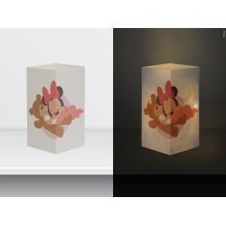 "W-LAMP BIGLIETTO D'AUGURI LAMPADA LED "" BABY MINNIE"" DISNEY COLLECTION S H15 CM"
