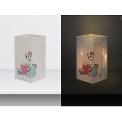 """W-LAMP BIGLIETTO D'AUGURI LAMPADA LED """" CARICA DEI 101 HAPPY BIRTHDAY"""" DISNEY COLLECTION S H15 CM"""