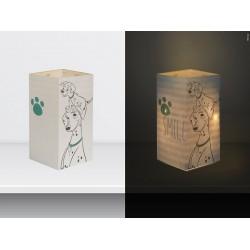 """W-LAMP BIGLIETTO D'AUGURI LAMPADA LED """" CARICA DEI 101 SMILE"""" DISNEY COLLECTION S H15 CM"""