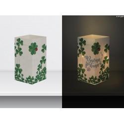"""W-LAMP BIGLIETTO D'AUGURI LAMPADA LED """"BUONA FORTUNA"""" EVERYDAY COLLECTION S H15 CM"""