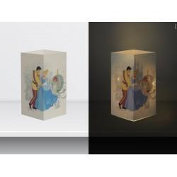 "W-LAMP BIGLIETTO D'AUGURI LAMPADA LED ""CENERENTOLA"" DISNEY COLLECTION S H15 CM"