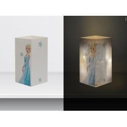 """W-LAMP BIGLIETTO D'AUGURI LAMPADA LED """"FROZEN HAPPY BIRTHDAY"""" DISNEY COLLECTION S H15 CM"""