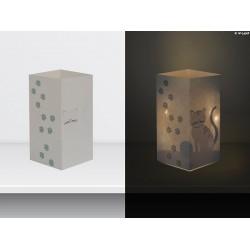 """W-LAMP BIGLIETTO D'AUGURI LAMPADA LED """"GATTO"""" EVERYDAY COLLECTION S H15 CM"""