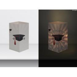 "W-LAMP BIGLIETTO D'AUGURI LAMPADA LED ""LAUREA"" EVERYDAY COLLECTION S H15 CM"
