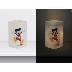 """W-LAMP BIGLIETTO D'AUGURI LAMPADA LED """"MICKEY LAUREA"""" DISNEY COLLECTION S H15 CM"""
