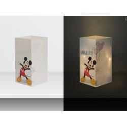 "W-LAMP BIGLIETTO D'AUGURI LAMPADA LED ""MICKEY MOUSE AUGURI"" DISNEY COLLECTION S H15 CM"