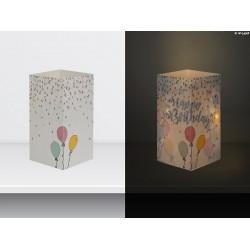 "W-LAMP BIGLIETTO D'AUGURI LAMPADA LED ""PALLONCINI HAPPY BIRTHDAY"" EVERYDAY COLLECTION S H15 CM"