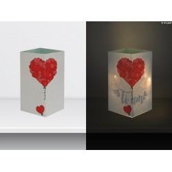 """W-LAMP BIGLIETTO D'AUGURI LAMPADA LED """"PALLONCINI TI AMO """" EVERYDAY COLLECTION S H15 CM"""