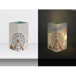 "W-LAMP BIGLIETTO D'AUGURI LAMPADA LED ""RUOTA AUGURI"" EVERYDAY COLLECTION S H15 CM"