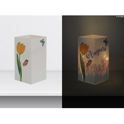 "W-LAMP BIGLIETTO D'AUGURI LAMPADA LED ""TULIPANI"" EVERYDAY COLLECTION S H15 CM"