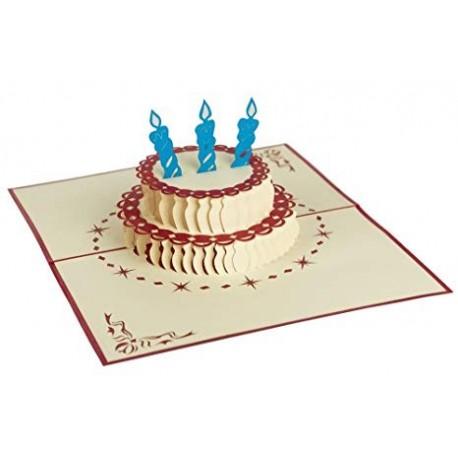 Biglietto D'Auguri Origamo ''Torta Buon Compleanno''