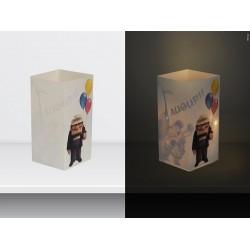"W-LAMP BIGLIETTO D'AUGURI LAMPADA LED ""UP HAPPY BIRTHDAY"" DISNEY COLLECTION S H15 CM"