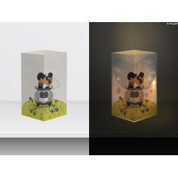 """W-LAMP BIGLIETTO D'AUGURI LAMPADA LED """"W GLI SPOSI"""" EVERYDAY COLLECTION S H15 CM"""