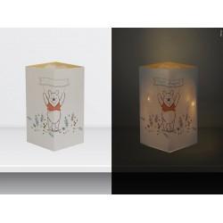"W-LAMP BIGLIETTO D'AUGURI LAMPADA LED ""WINNIE POOH"" DISNEY COLLECTION S H15 CM"