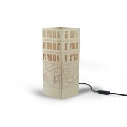 W-LAMP LAMPADA IN CARTONCINO-TAGLIO LASER LIBERTY BUILDING H32
