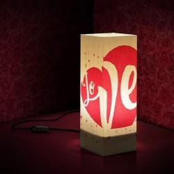 W-LAMP LAMPADA IN CARTONCINO-TAGLIO LASER LOVE H32