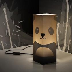 W-LAMP LAMPADA IN CARTONCINO-TAGLIO LASER PANDA H32