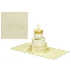 Biglietto D'Auguri Origamo ''Torta Sposi''