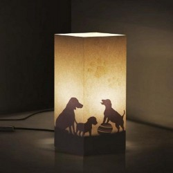 W-LAMP LAMPADA IN CARTONCINO-TAGLIO LASER PAW BALL H32