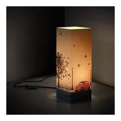 W-LAMP LAMPADA IN CARTONCINO-TAGLIO LASER VINTAGE H32